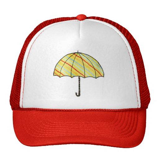 Paraguas rayado de Homeberries Gorro De Camionero