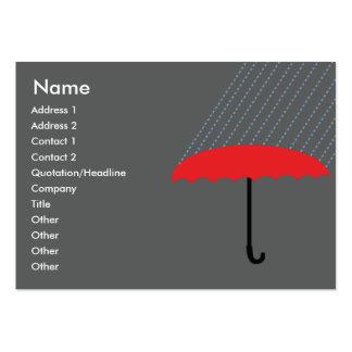 Paraguas - rechoncho tarjetas de visita grandes