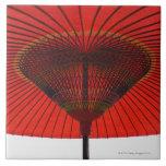 Paraguas rojo 2 tejas