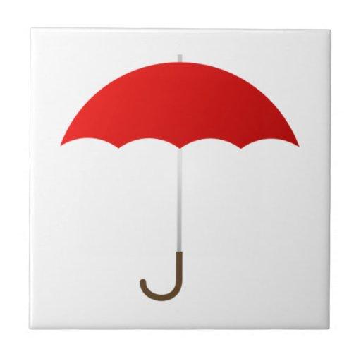 Paraguas rojo azulejo cerámica