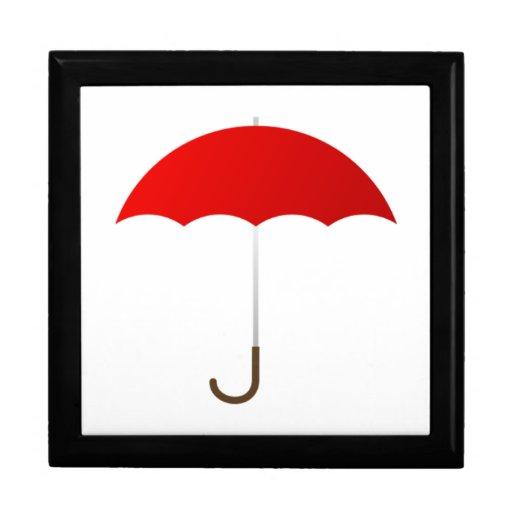 Paraguas rojo cajas de regalo