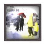 Paraguas rojo cajas de regalo de calidad