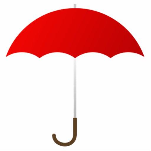 Paraguas rojo escultura fotográfica