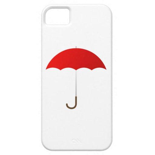 Paraguas rojo iPhone 5 cárcasas