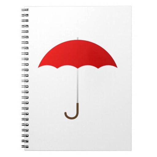 Paraguas rojo libretas