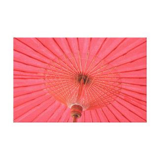 Paraguas rojo impresiones en lona