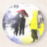 Paraguas rojo posavasos personalizados