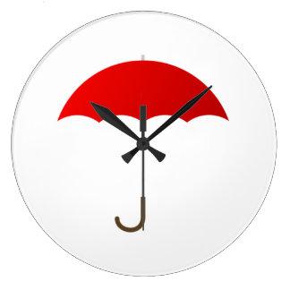 Paraguas rojo relojes de pared