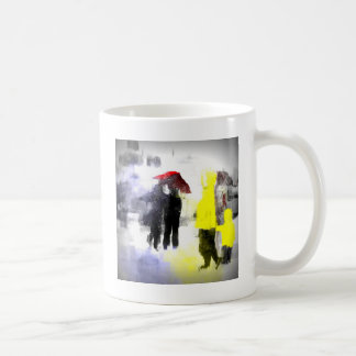 Paraguas rojo taza