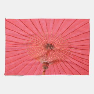 Paraguas rojo toalla de mano