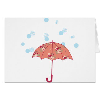paraguas tarjeta de felicitación