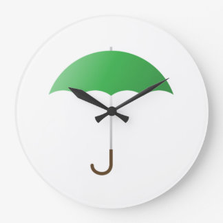 Paraguas verde relojes