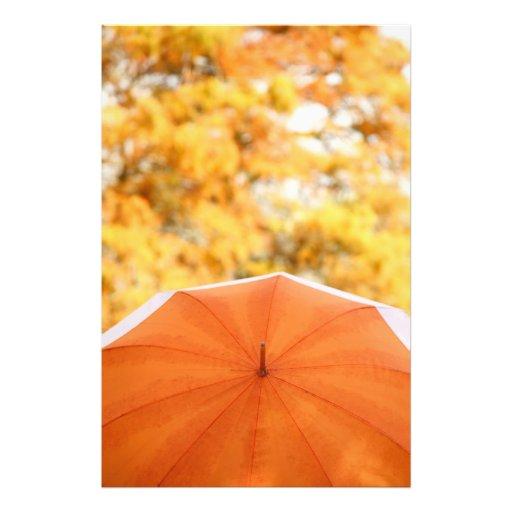 Paraguas y colores del otoño cojinete
