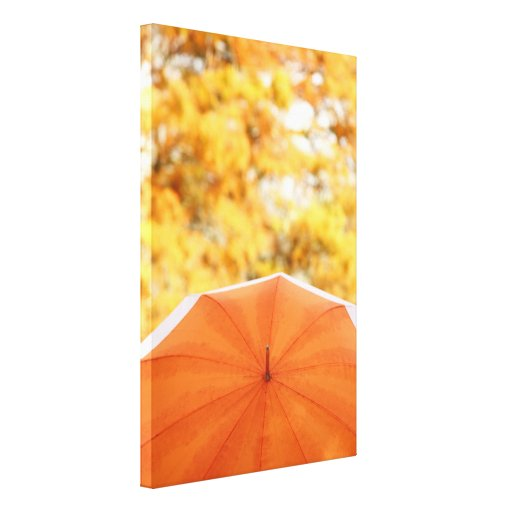 Paraguas y colores del otoño lona estirada galerias