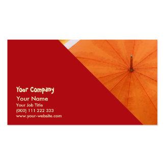 Paraguas y colores del otoño tarjetas de negocios