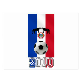 Paraguay 2010 flag of Paraguay soccer ball gifts Postcard
