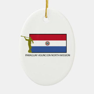 Paraguay Asuncion North Mission LDS CTR Double-Sided Oval Ceramic Christmas Ornament