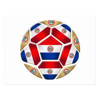 Paraguay ball 2010 2014 soccer ball gifts postcard