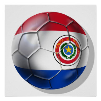Paraguay ball Paraguayan flag of Paraguay gifts Poster