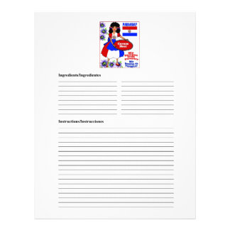 Paraguay blank meat recipe cards