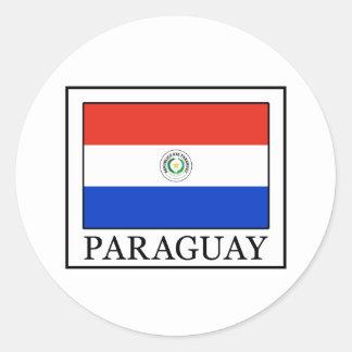 Paraguay Classic Round Sticker