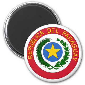 Paraguay coat of arms 2 inch round magnet