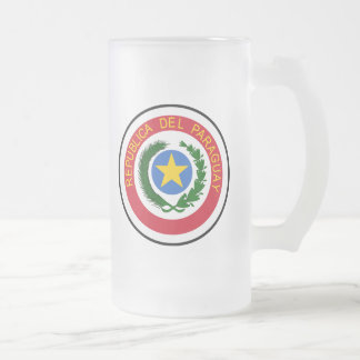 Paraguay Coat Of Arms Frosted Glass Beer Mug