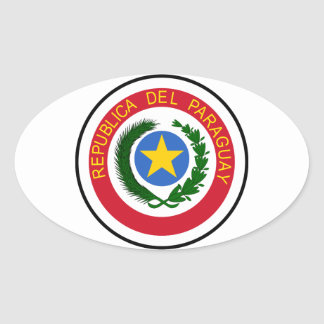 Paraguay Coat Of Arms Oval Sticker