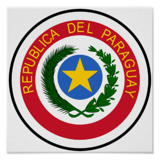 Paraguay Coat of Arms Poster