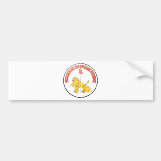 Paraguay Coat Of Arms Reverse Bumper Sticker