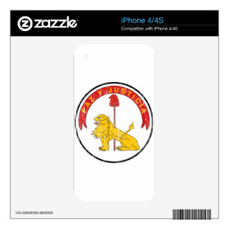 Paraguay Coat Of Arms Reverse Decal For The iPhone 4S