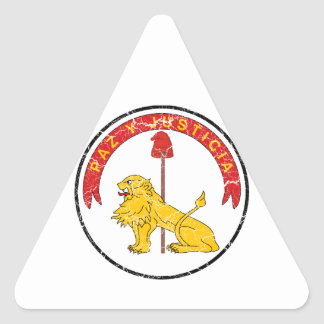 Paraguay Coat Of Arms Reverse Triangle Sticker