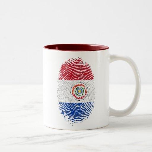 Paraguay fingerprint flag 100% Paraguayan gifts Mug