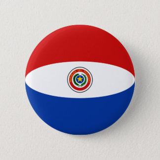 Paraguay Fisheye Flag Button