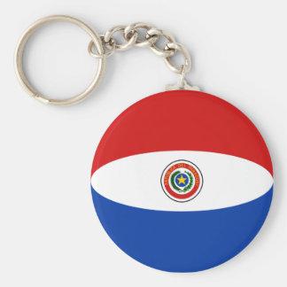 Paraguay Fisheye Flag Keychain