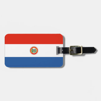 Paraguay flag bag tag