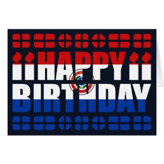 Paraguay Flag Birthday Card