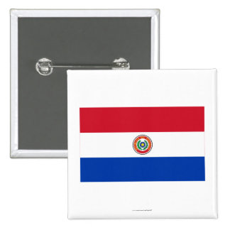 Paraguay Flag 2 Inch Square Button