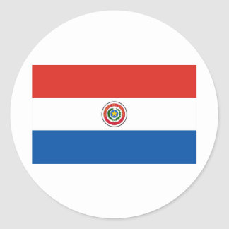 Paraguay flag classic round sticker