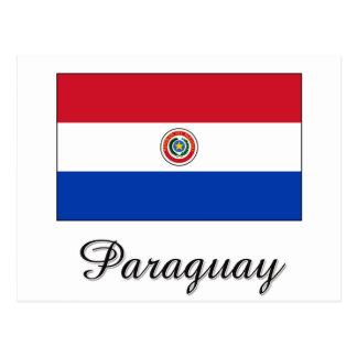 Paraguay Flag Design Postcard