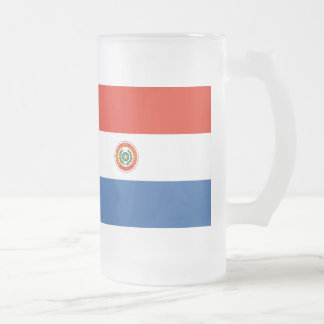 Paraguay Flag Frosted Glass Beer Mug