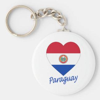 Paraguay Flag Heart Keychain