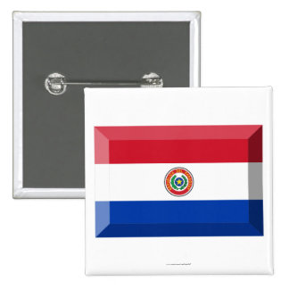 Paraguay Flag Jewel 2 Inch Square Button