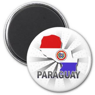 Paraguay Flag Map 2.0 Fridge Magnet