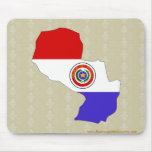 Paraguay Flag Map full size Mouse Pad