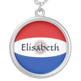 Paraguay Flag + Name Necklace