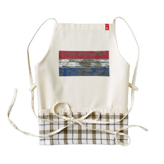 Paraguay Flag on Rough Wood Boards Effect Zazzle HEART Apron