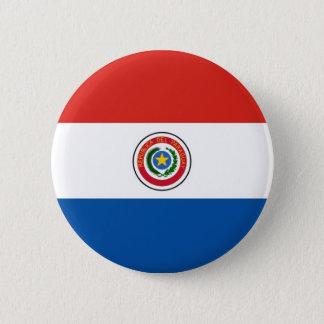Paraguay flag pinback button