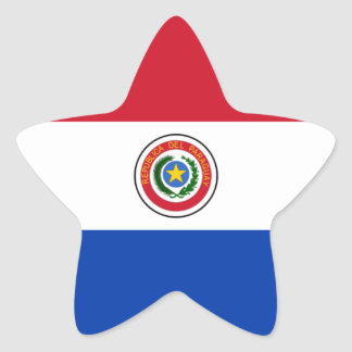 Paraguay flag star stickers