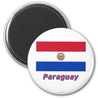 Paraguay Flag with Name Magnet